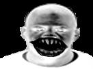 Sticker risitas creepy peur horrible horreur enfer