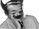 Sticker risitas creepy horreur noir blanc peur psychose dedoublement nuit monstre