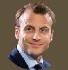 Sticker politic emmanuel macron president france visage costard sourire