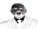 Sticker risitas creepy mr navarron peur horrible horreur costume homme