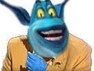Sticker risitas jesus bigdil lagaffe mix bleu monstre