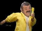 Sticker fille jaune manteau cour mix risitas risotas