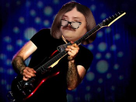 Sticker risitas guitar femme homme lunettes musicien
