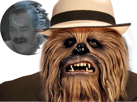 Sticker chewbacca star wars risitas chapeau risichew