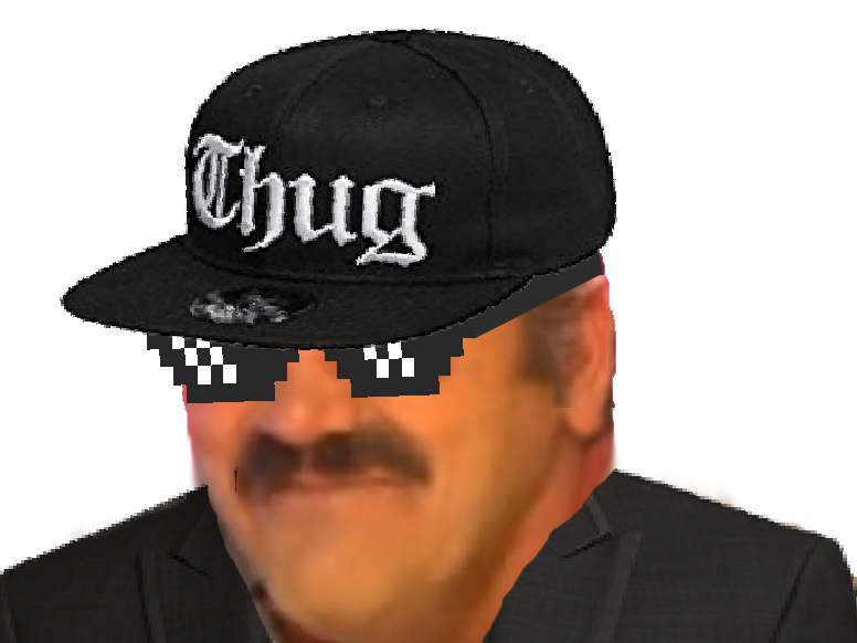 Sticker risitas thug life