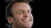 Sticker politic emmanuel macron visage costard rire sourire