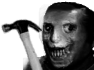 Sticker creepy risitas jesus gore fantome demon alien satan jesus paradis enfer peur diable esprit fantome suicide gun pistolet triste a laide au secours
