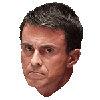 Sticker politic manuel valls ancien premier ministre france francais gauche parti socialiste gouvernement visage mecontent severe colere regard