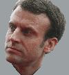 Sticker politic emmanuel macron president france visage serieux severe colere