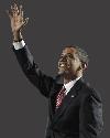 Sticker politic barack obama president amerique americain usa costard debout main salut