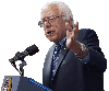Sticker politic bernie sanders senateur democrate socialiste amerique americain usa meeting discours micro main
