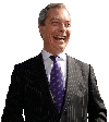 Sticker politic nigel farage ukip amerique americain usa depute costard debout sourire