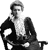 Sticker other marie curie physiques physicienne sciences maths nobel france francaise polonie polonaise serieux assise chaise
