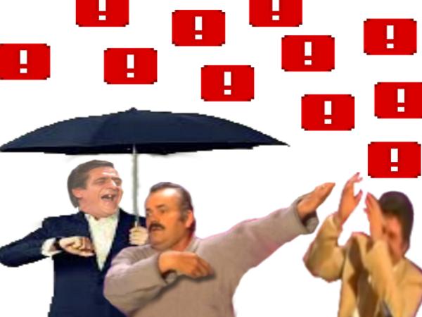 Sticker ddb pluie risitas jesus goudja parapluie