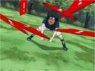 Sticker jvc ddb sasuke naruto shuriken ninja lancer