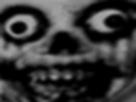 Sticker risitas horreur creepy malsain peur visage noir blanc sourire