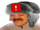 Sticker ddb russe chapka risitas ban chapeau risotas