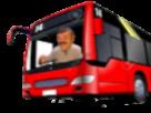 Sticker accident risitas bus rouge