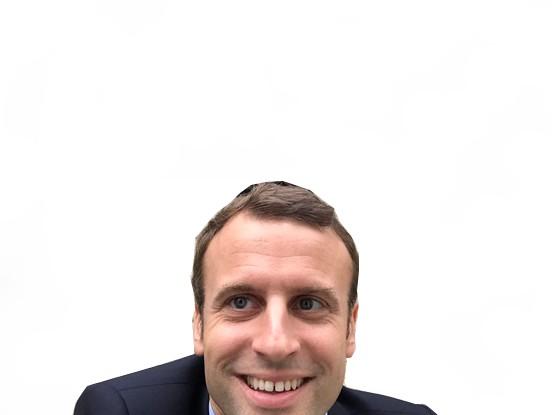 Sticker politic macron selfie sourire