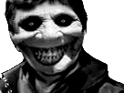 Sticker risitas jesus horreur noir blanc creepy peur monstre mignon