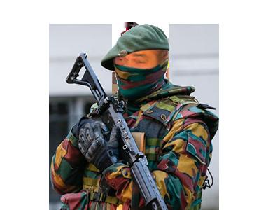 Sticker risitas belge solide armee soldat