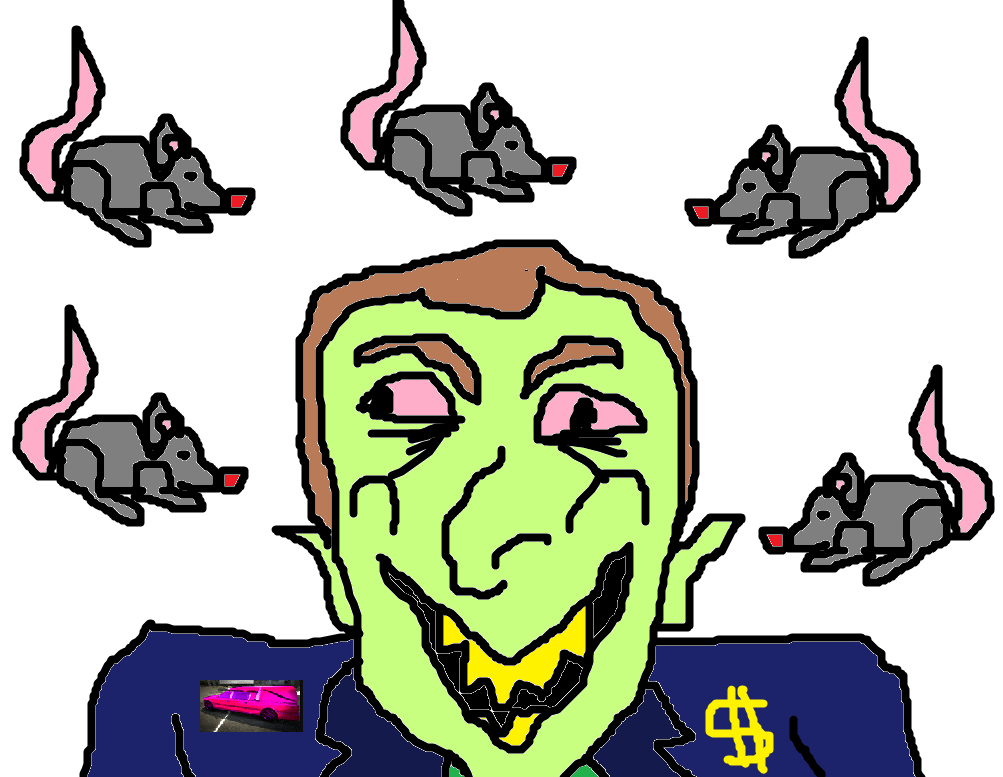 Sticker politic macron rat tison corbillard fric bank bfm