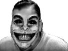 Sticker risitas horreur monstre creepy noir blanc peur mignon