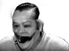 Sticker risitas horreur peur affreux monstre brule noir blanc issou