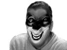 Sticker risitas horreur creepy sourire noir blanc peur
