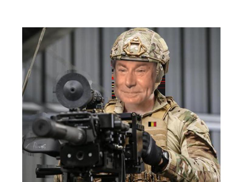 Sticker risitas belge solide militaire armee