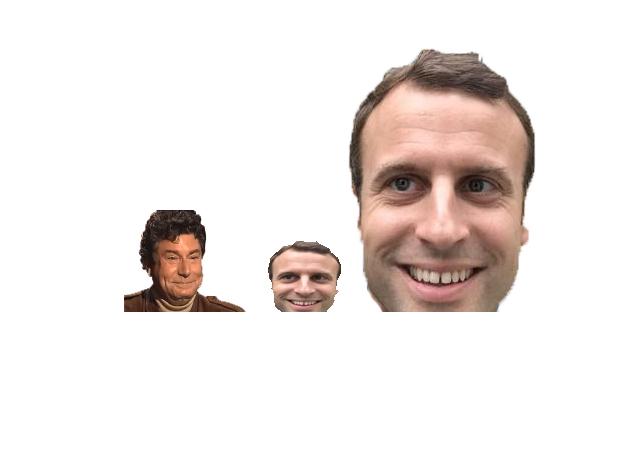 Sticker politic macron famille flippant