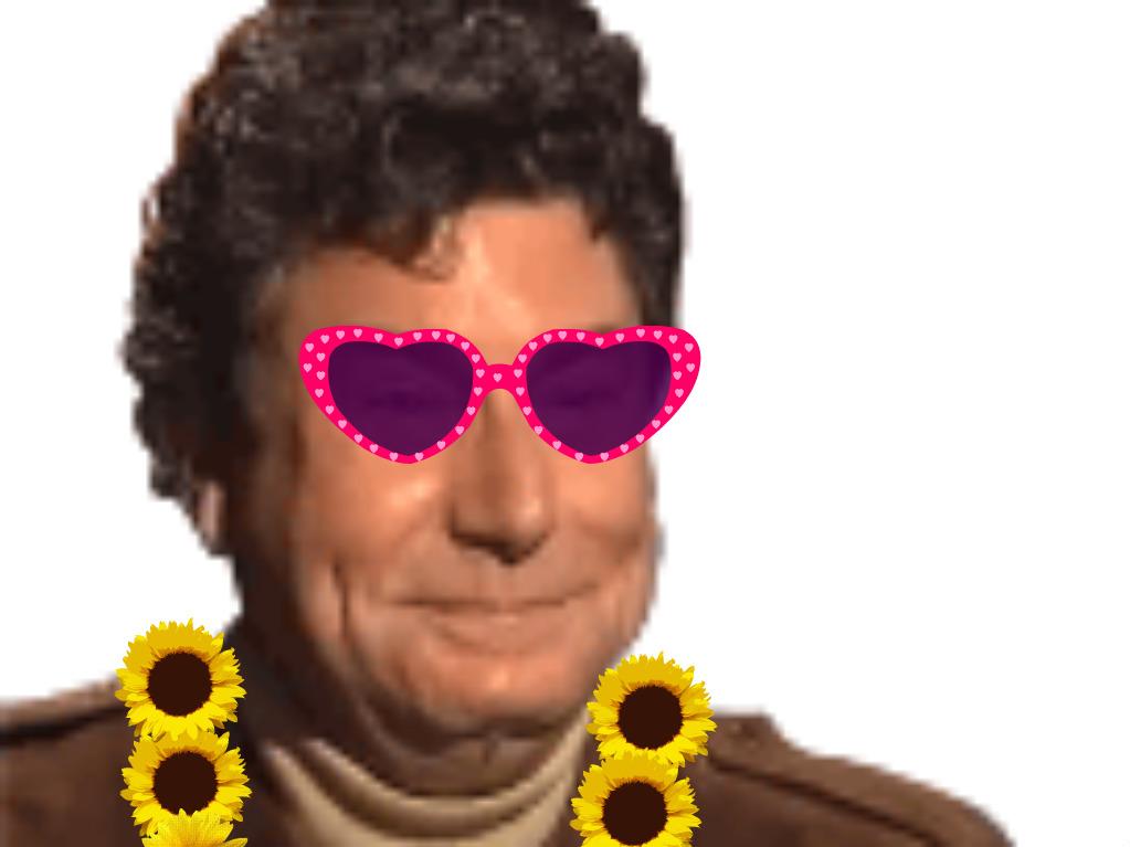 Sticker risitas jesus quintero jvc sourire rigole moque hap content costard hippie hipster fleurs lunettes 70
