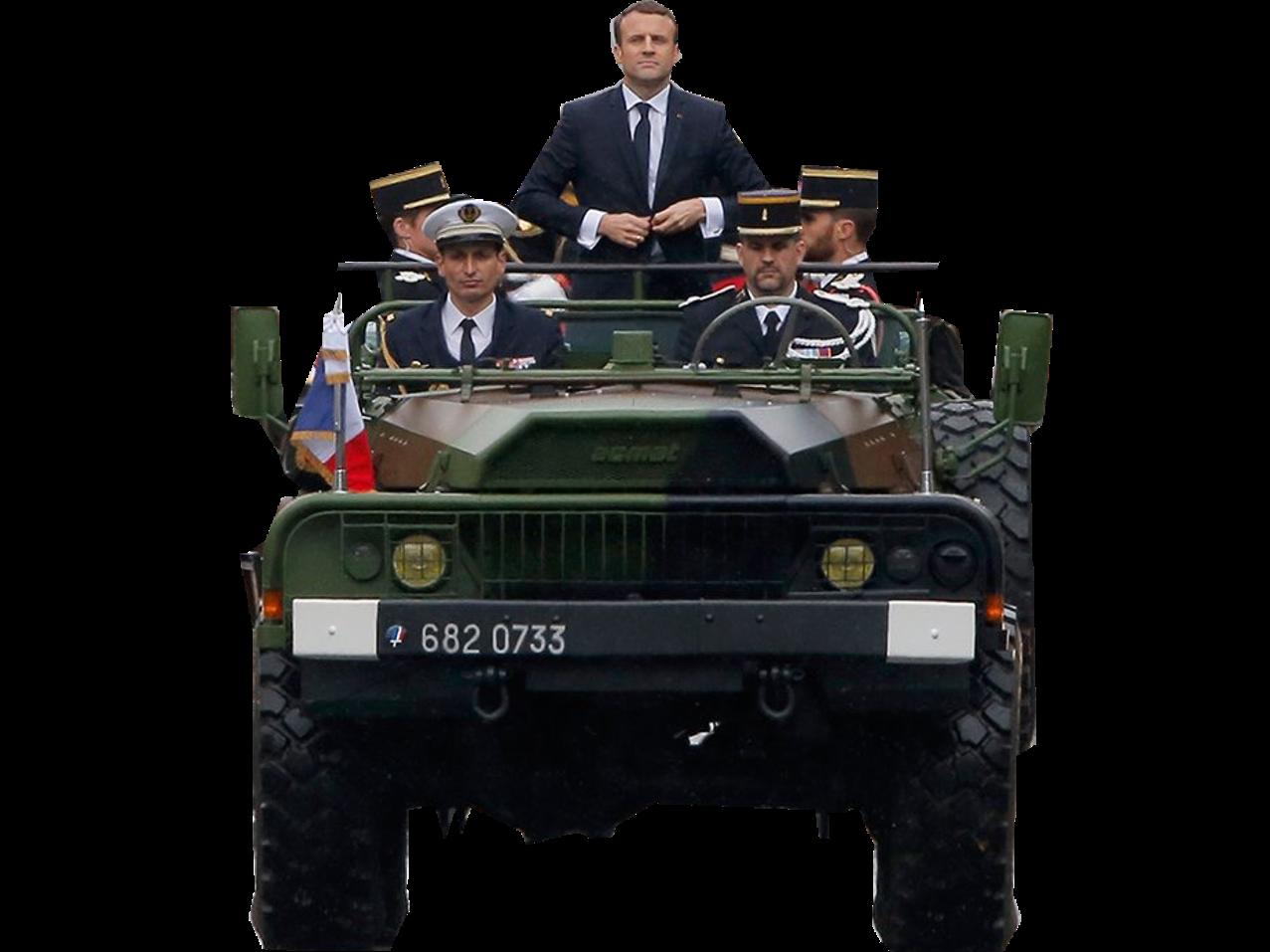 Sticker politic emmanuel macron president de la republique ceremonie investiture officiel soldat militaire pouvoir president bg kolossal prestance jeune et dynamique