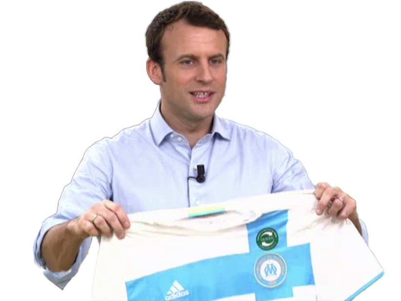 Sticker other emmanuel macron en marche om olympique de marseille beauf foot football but president projet brigitte cuck