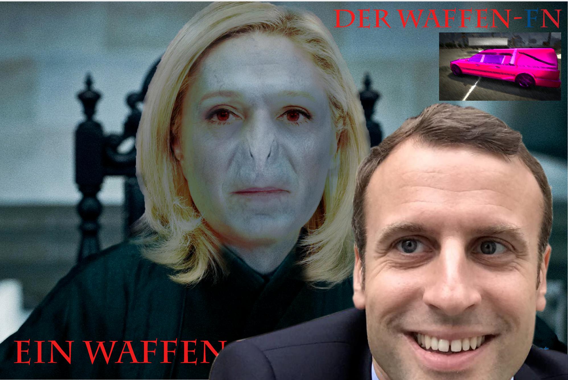 Sticker politic le pen macron tison corbillard fachos nul folle