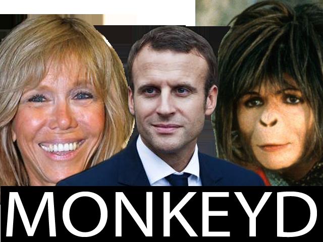 Sticker risitas brigitte macron emmanuel president milf granny cuck cucked baise blacked singe macaque