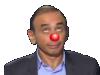 Sticker other eric zemmour chroniqueur journaliste ecrivain rtl onpc politic ben voyons non attendez nez clown