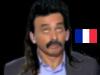 Sticker other eric zemmour chroniqueur journaliste ecrivain rtl onpc politic ben voyons non attendez perruque cheveux moustache beauf drapeau francais pays france
