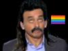 Sticker other eric zemmour chroniqueur journaliste ecrivain rtl onpc politic ben voyons non attendez perruque cheveux moustache beauf drapeau lgbt gay homo
