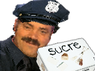 Sticker risitas bg sourire flic sucres sucre boite uniforme police gilbert 2