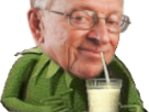 Sticker risitas larry chance boit boire jus lait paille kermit silverstein