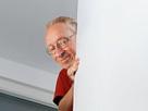 Sticker risitas larry celestin la chance silverstein descend escalier mur