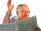 Sticker risitas larry chance la silverstein journal coucou salut main leve