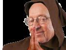 Sticker risitas larry pretre silverstein la chance cagoule moine cure eglise
