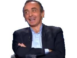 Sticker politic zemmour rire rigole sourire haha