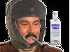 Sticker jesus quintero risitas jvc sourire rire moqueur hap russe russie chapka urss moustache joint vodka
