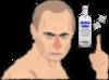Sticker jvc politic vladimir poutine president russe russie ordre alcool vodka 2 deux sucres two sugars dessin illustration cartoon
