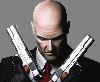 Sticker other hitman jeu jeux video personnage costard chauve severe serieux arme pistolet flingue gun