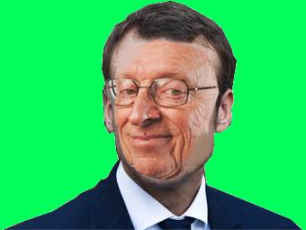 Sticker risitas macron larry chance politique presidentielles sourire