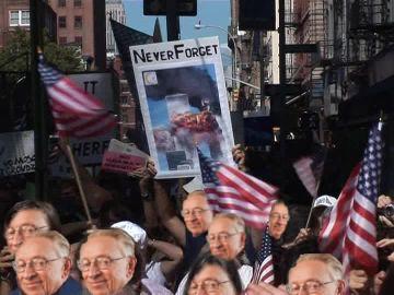 Sticker larry silverstein la chance manifestation attentat new york tours avions never forget ne jamais oublier